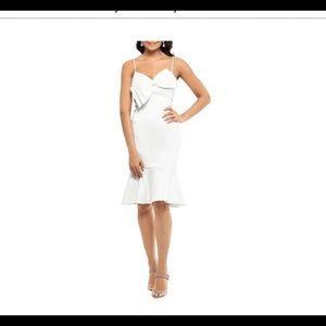 Xscape Ivory bow sheath dress